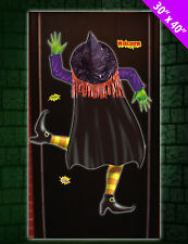 Halloween Crashed Witch 3D Door Window Banner - Party Decoration Cover Poster