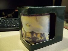 New 1997 Thomas Kinkade Stonehearth Hutch Ceramic Mug With Gold Upper Rim Quote