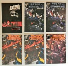 Transformers The War Within #1, 2, Preview 2002 Dreamwave Comics Lot of 6 Issues