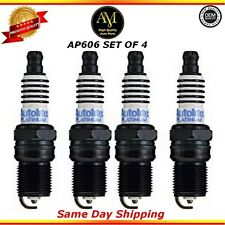 Platinum Spark Plugs AP606 Set of 4 For 04/14 GMC Chevrolet Pontiac 3.4L 3.8L