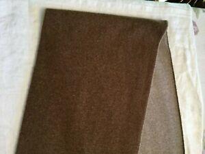 PORTOLANO 2-TONE CASHMERE/WOOL BLEND UNISEX BROWN SCARF WRAP NEW