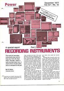 Technical Report - Recording Instruments - Plant - Power Magazine - 1977 (E6774)