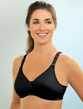 GLAMORISE Bra 54G 54 G SEAMLESS T-Shirt PLUS-SIZE Padded Cups 9010 Black NEW