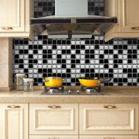 Eg _500X20CM Mosaik Entfernbarer Aufkleber Wandkunst Küche Wasserfest Dekor Ni