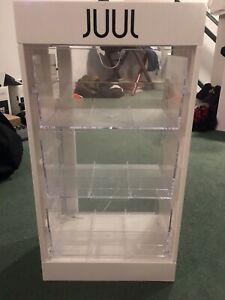 JUULS white display case, new condition, rare, storage