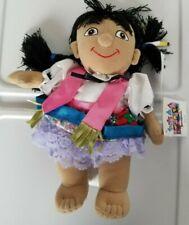 a Disney Mexico Mexican Girl Small World Mini Bean Bag-Beanie NWT HTF