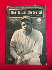 "1926, Babe Ruth, ""Mid-Week Pictorial"" Magazine (No Label) Scarce / Vintage"