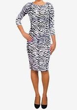 Black & White Dress Print Stretch Midi Size 6/8 £5 Stock clearance in our shop