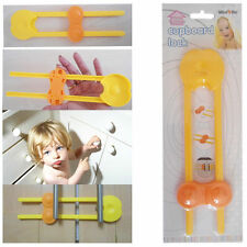 Child Home Safety Cupboard Lock Baby Care Door Hand Protection Push-Button NEW