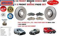 FOR FIAT SCUDO 1.6D 2.0D BOX VAN MULTIJET FRONT BRAKE DISCS SET + DISC PADS KIT
