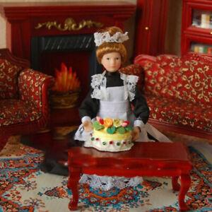 1:12 Miniatur Mini Viktorianisches Puppenmodell Hausmädchen Puppenhaus DekoratSC