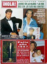 HOLA 1987: STEPHANIE OF MONACO_ROB LOWE MELISSA GILBERT_LORENZO LAMAS_QUEEN NOOR