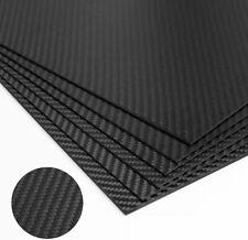 Carbon Fiber Plate Panel Sheet Weave Twill 1mm/3mm 3K Plain Parts 200x250mm Diy