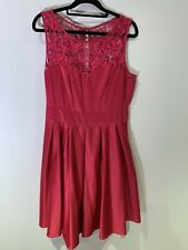Review Pink Silk Look Dress With Lace - 12 - Tulle Mesh Under Skirt