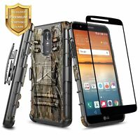 LG Stylo 4 / Stylo 4 Plus | Shockproof Dual Layer Case Cover Kickstand & Holster
