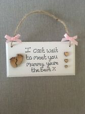 Mum To Be Birthday Baby Shower Gift Mummy To Be Bump Personalised Plaque