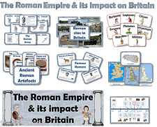 KS2 ROMANS & THE ROMAN EMPIRE IN BRITAIN DISPLAY PACK teaching resources on CD