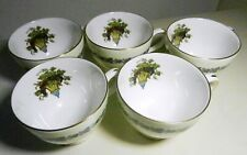 Wedgwood Bone China  APPLEDORE Leigh  Footed CUPS-MINT -England-5 available