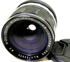 Soligor FD 28mm f2.8 Lens manual focus (with aperture ring stuck) - AS IS PARTS