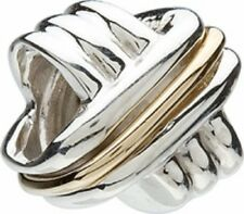 Chamilia Crisscross Sterling Silver & 14K GOLD Bead KB-31  NEW Authentic