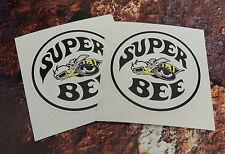 2 Dodge Super Bee Classic Adesivi Auto 85mm ROUND Muscolo decalcomanie auto