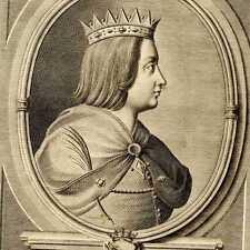 Portrait du Duc Théodore Lotharingie Gravure originale XVIIIe