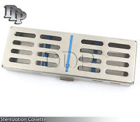 5 Instruments Dental Surgical Sterilization Autoclave Cassette Tray Stainless