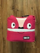 Smash Monster Pink Insulated Lunch box Blue IQ Antimicrobial Lining NEW