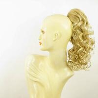 Postiche queue de cheval femme bouclé 40 cm blond doré blond clair 3 en 24bt613