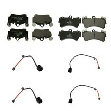 Audi Q7 Volkswagen Touareg Rear & Front Disc Brake Pad Set Kit + Wear Sensors