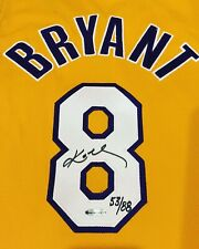 Kobe Bryant Upper Deck Autographed Lakers Home Jersey  B To B Champion 53 of 88