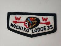 Boy Scout OA 35 Wichita Lodge C2 Chenille Flap