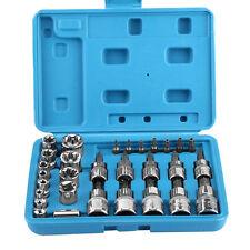 29PCS Male Female Torx Star Socket & Bit Set E & T Sockets w/ Torx Bits Tool Kit