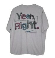 """Mens Vintage 90s Nike T-shirt """"A Women Must Act Like A Lady"""" """"YEAH RIGHT!"""" LG"""