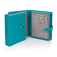 El Pequeño Libro De Anillos Joyas Caja de Almacenamiento Organizador verde azulado, Regalo Para Ella