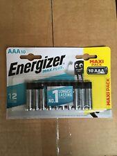Lasting 10 Pack Exp Dec 2031 Uk Energizer Max Plus Aaa / Lr03 Batteries Long