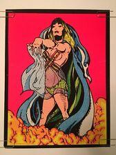 Salome Vintage Blacklight Poster Psychedelic Velvet Flocked Pin-up 1970's