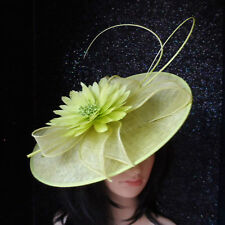 FAILSWORTH ZEST LIME GREEN WEDDING FASCINATOR DISC OCCASION MOTHER OF THE BRIDE