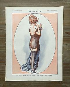 ORIGINAL La Vie Parisienne Illustration: Women, Nudes, Lipstick (M.Milliere)