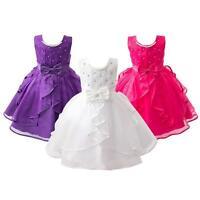 Pageant Flower Kids Child Girl Birthday Wedding Bridesmaid Gown Formal Dresses