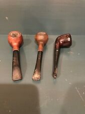 Vintage lot of three (3) Briar wood smoking pipes