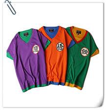 Dragon Ball Z combat clothes Goku LOGO round neck short sleeve T-shirt