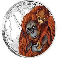 2014 Mother's Love Orangutan 1/2oz Silver Proof Coin