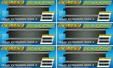 Scalextric Track Extension Pack 4 - 24pcs C8205 350mm Straight Tracks C8526X6