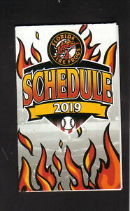 Florida Fire Frogs--2019 Pocket Schedule--CenterState/Mullinax Ford--Braves
