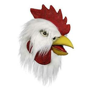 Rooster Mask,Halloween Novelty Costume Party Latex Animal head Mask Bronze