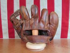 Vintage 1940s Goldsmith Leather Baseball Glove Split Finger Mitt Elmer Riddle