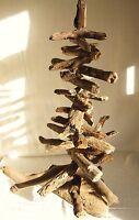 "SMALL CHRISTMAS TREE FROM CORNISH DRIFTWOOD DECORATION 12"" TALL CORNWALL BEACHES"
