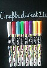 8 x 3.5mm COLOUR POPMAK  Liquid Chalk Marker Pens- Chalkboard - Glass- Crafts