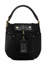 NWT MARC by MARC JACOBS Classic Q Hillier Nylon Hobo/Shoulder Bag BLACK $260+